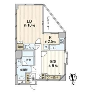 【間取図】LDコーナーサッシ!陽当り良好!キッチンは嬉しいL字型!