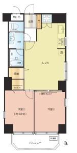 【間取図】家具家電付♪角部屋で眺めの良い空間です!