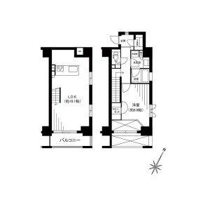【間取図】デザイン性の高いお洒落な家具付きのお部屋♪可愛いペットと一緒に暮らせます!