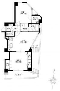 【間取図】南東角部屋6階で陽当たり良好♪ペット飼育可です☆(規約有)
