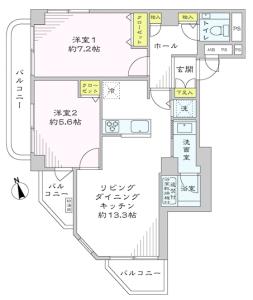 【間取図】 開放感のあるリビングダイニング♪ リビング対面カウンターキッチン☆ 手洗いカウンター付トイレ!