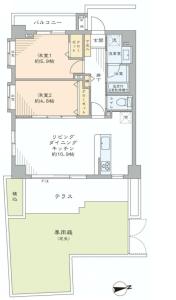 【間取図】東南角部屋!全居室に窓有☆38㎡の広々した専用庭付♪