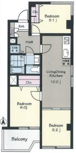 【間取図】最上階角部屋、南東向きで陽当たり・眺望良好です。