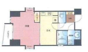 【間取り図】1DK/専有面積35.05㎡です。北・南・西に通風あり!